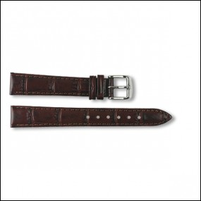 Lederband - Kroko-Design - braun - 14mm
